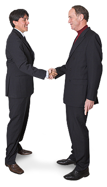 Image of men shaking hands.